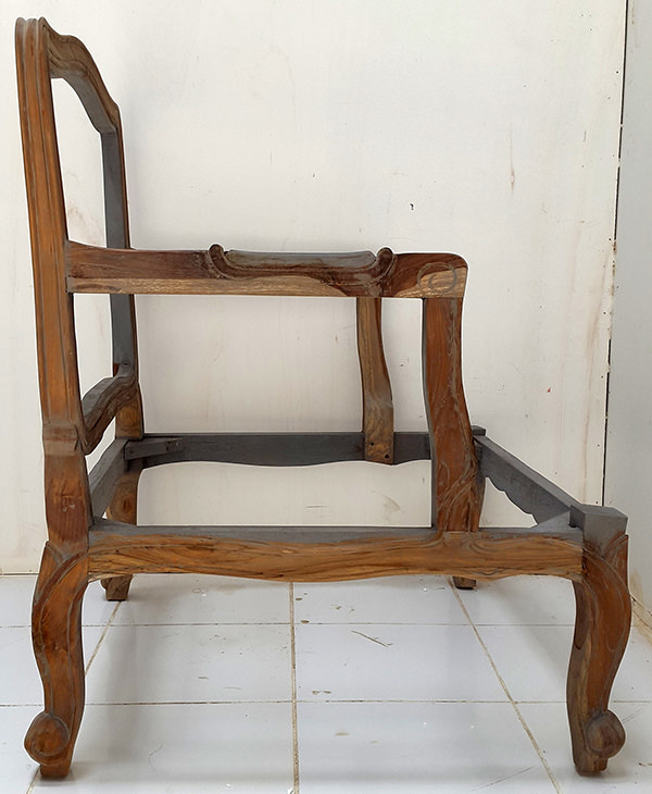 Balinese wooden arm chair