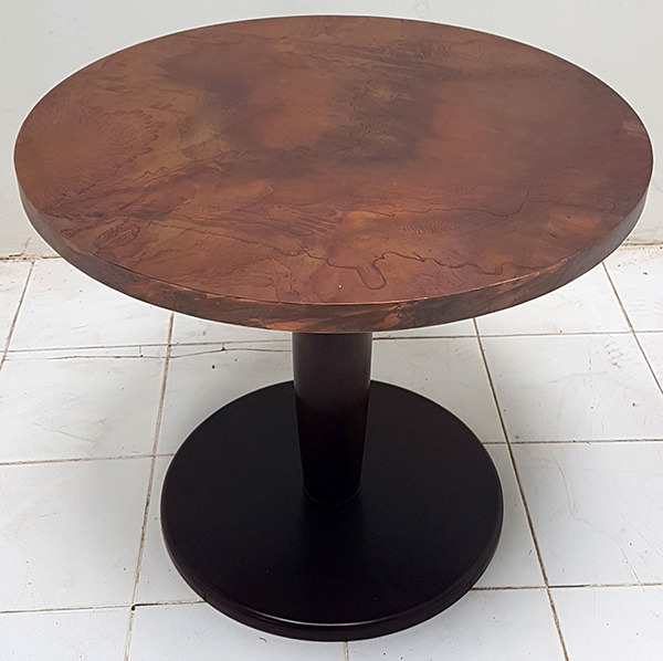 vintage copper table