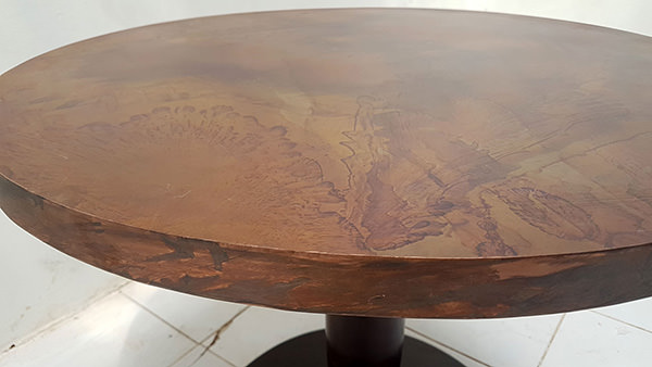round copper table