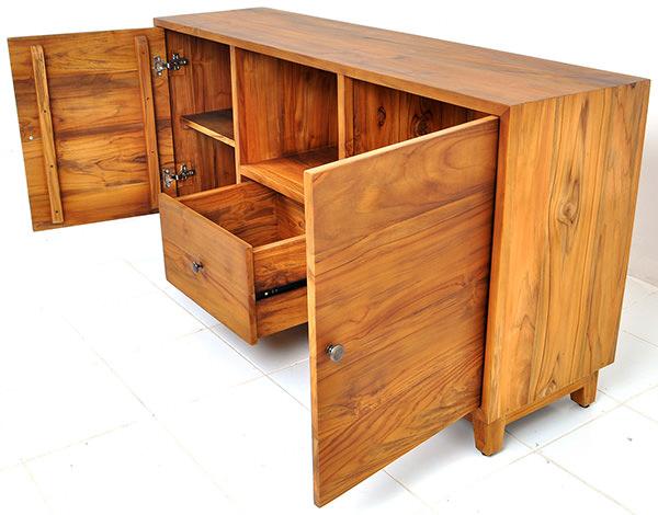teak wooden minimalist cabinet sideboard