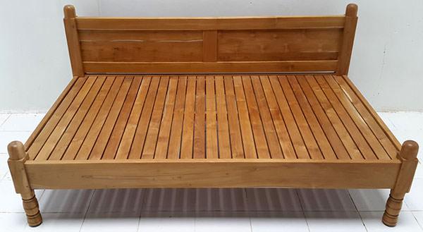 natural teak day bed