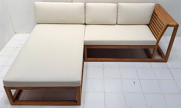 L-shaped teak sofa