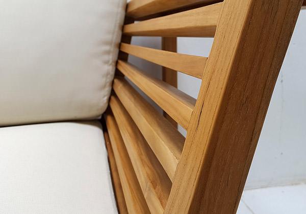 scandinavian L-shaped teak sofa