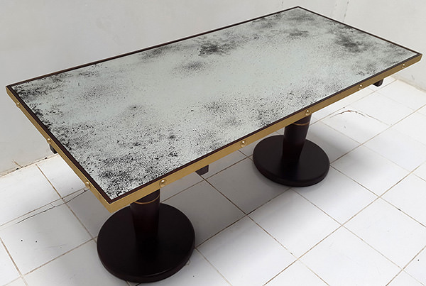 vintage mirror table