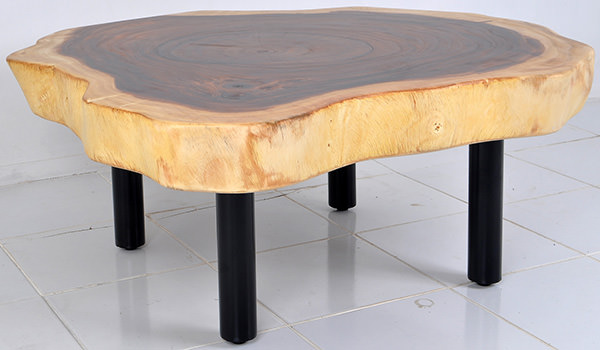 suar coffee table with iron legs
