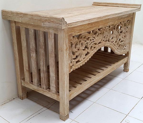 teak wooden vanity