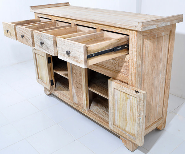 handicraft wooden teak cabinet
