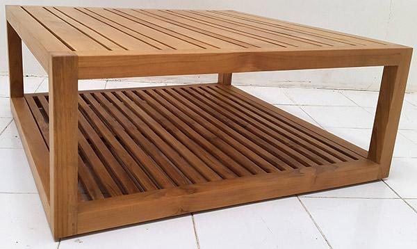 garden outdoor natural teak coffee table