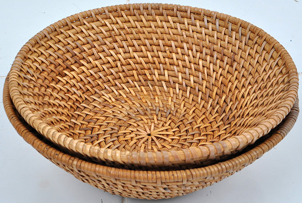 natural rattan fruit bowl home accessories