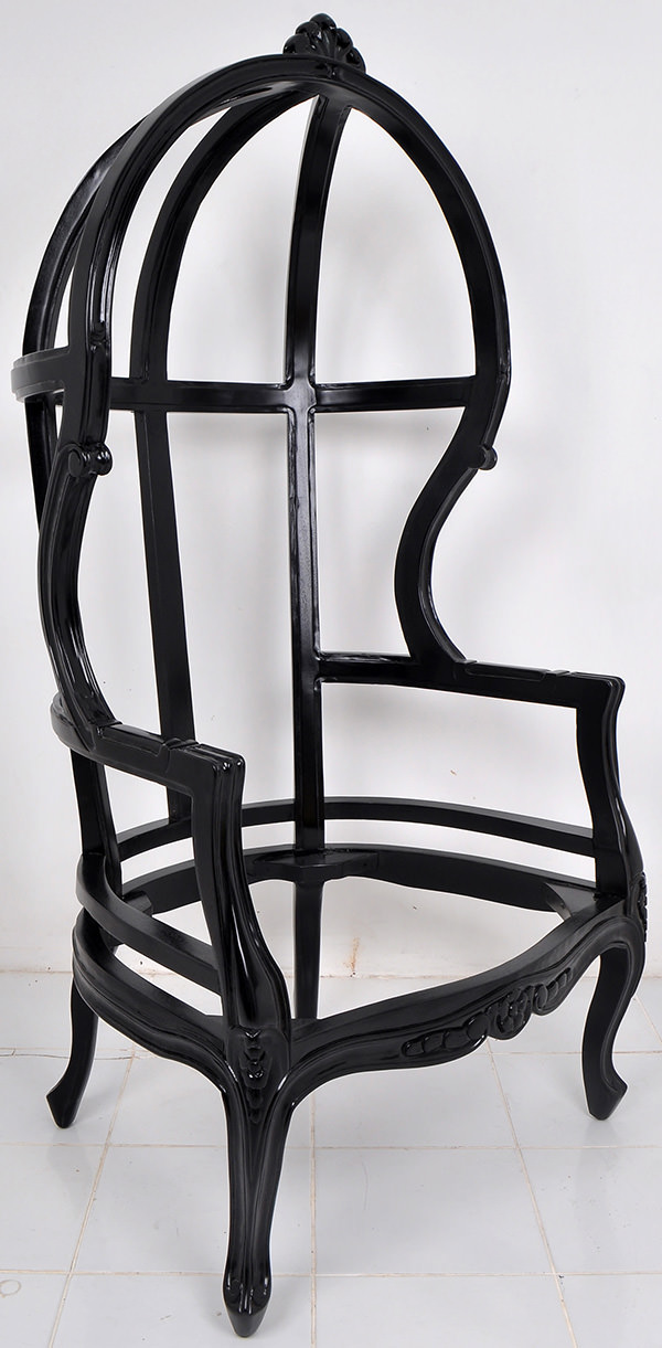 traditional high back chair frame