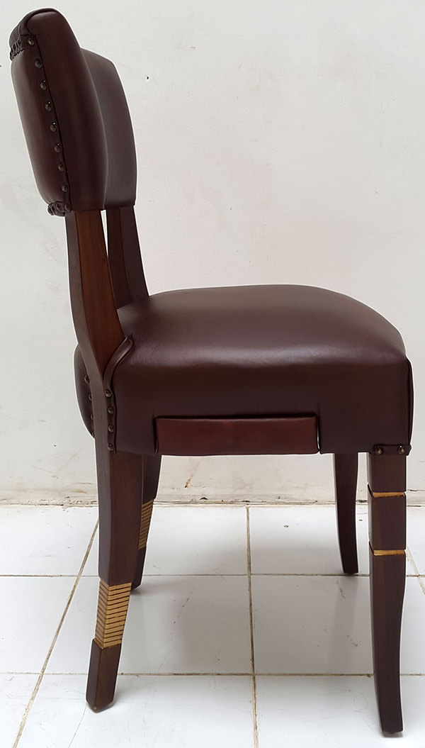 coya leather dining chair