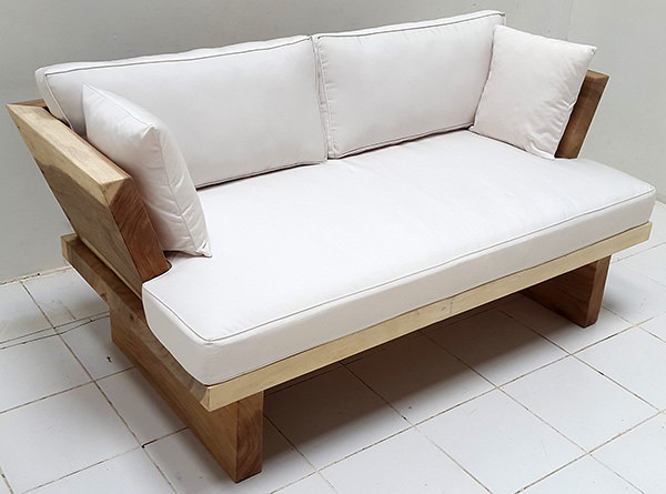 suar sofa with white mattress