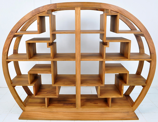 round Chinese bookcase