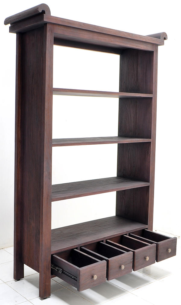 4 shelves teak book rack