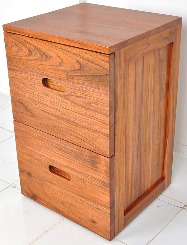 Two drawers wooden sideboard