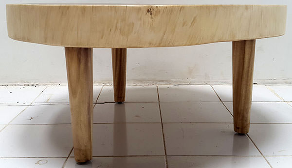 solid round rain tree table