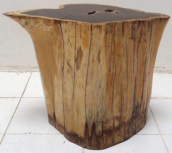 teak root solid wooden stool