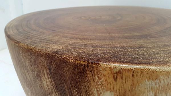 solid suar half round coffee table