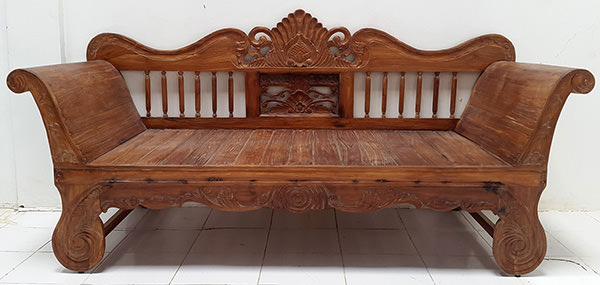traditional bench from asia