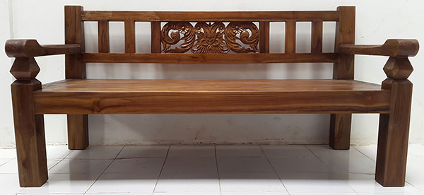 traditional bench from indonesia
