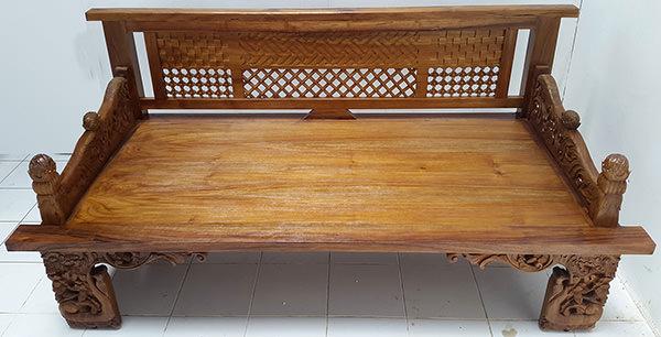 teak furniture with carvings