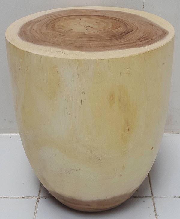 suar round stool with natural color
