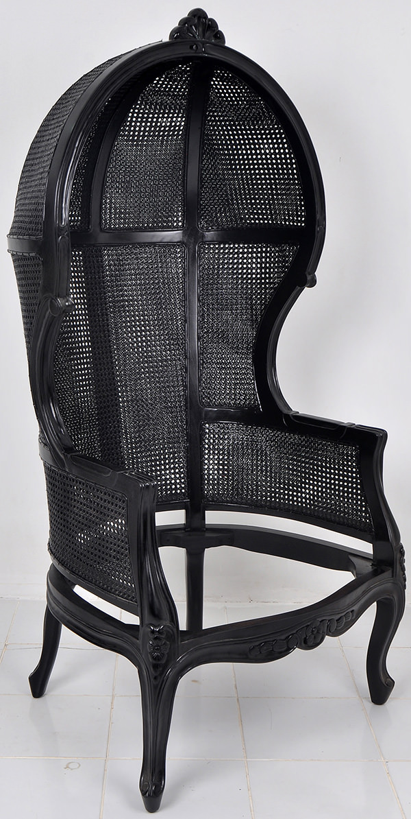 traditional handmade craft high back chair