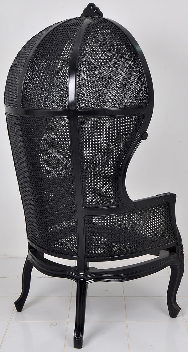 black round traditional handmade craft high back chair