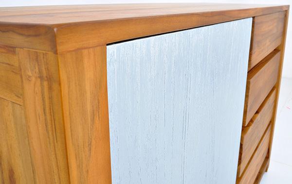 scandinavian sideboard with solid painted door