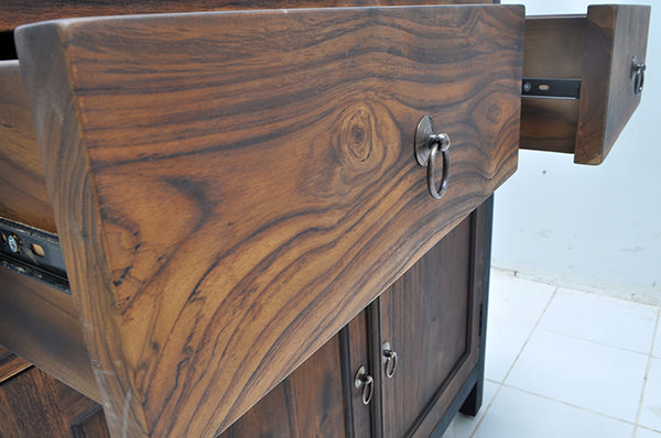 teak Yakisugi wood finishing