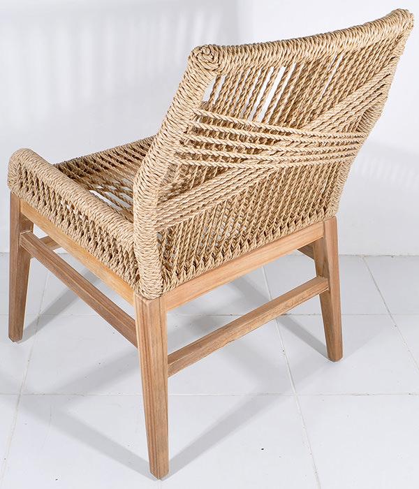 scandinavian chair with natural rattan seat