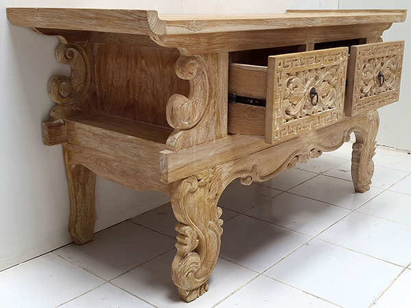chinese wooden teak console