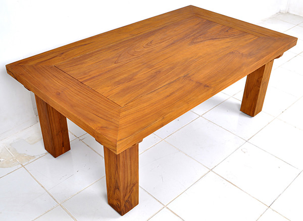 teak rustic coffee table with natural color