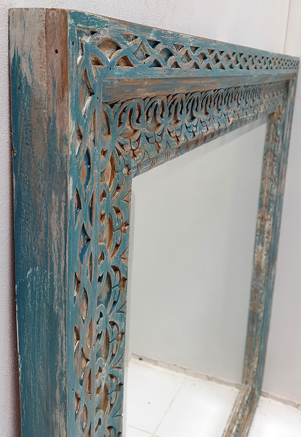 distressed vintage mirror