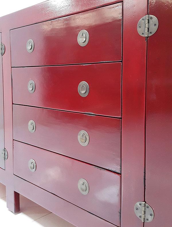 vintage red cabinet