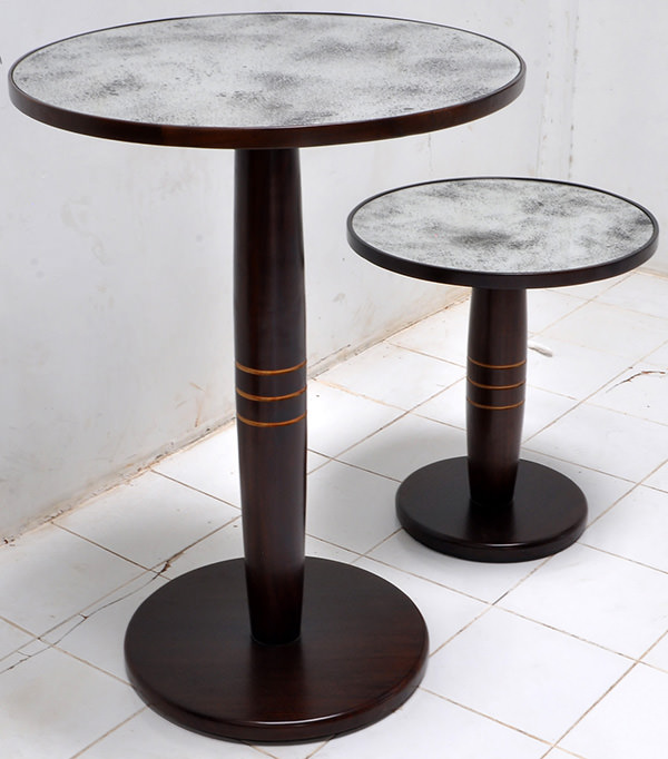 round bar table with mirror top