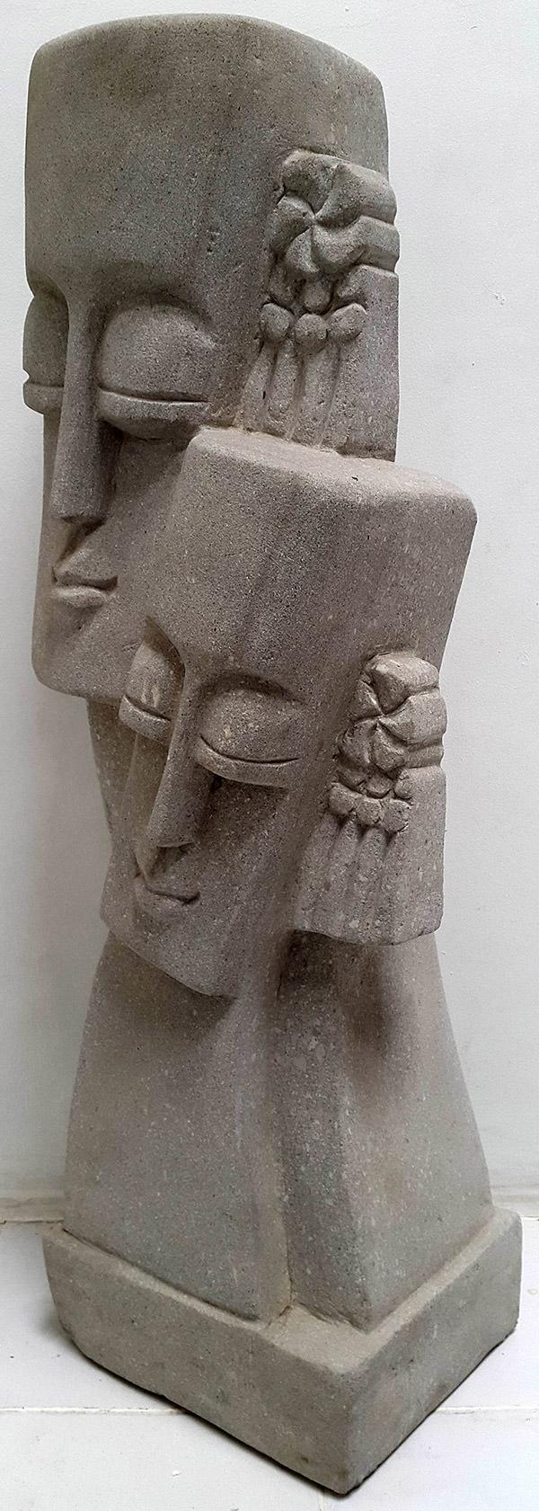 primitive stone sculpture
