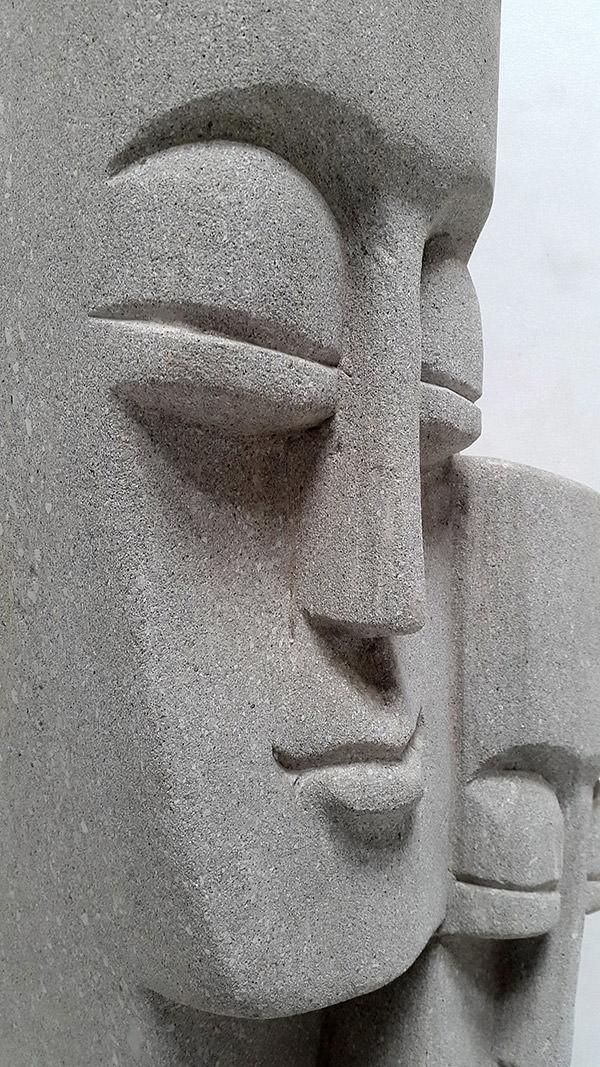 pacific primitive stone sculpture