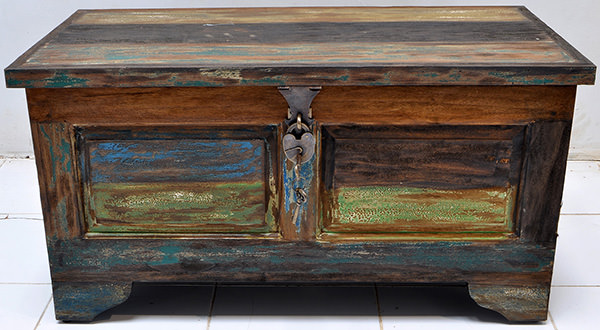 solid paint color antique trunk