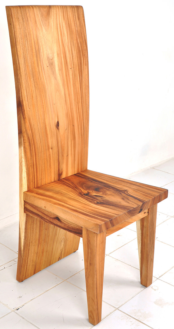 Suar wooden chair with no lamination