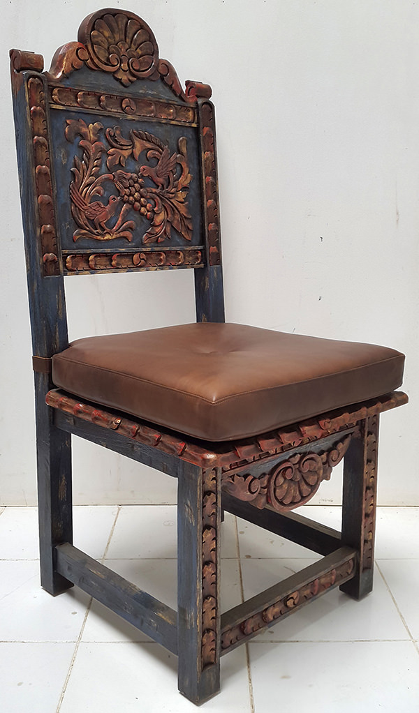 antique peruvian chair