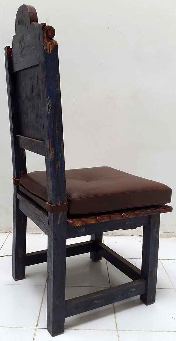 antique peruvian dining wooden chair