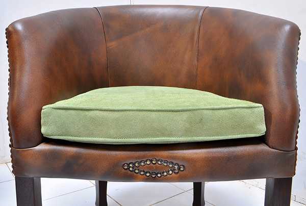 leather restaurant seat