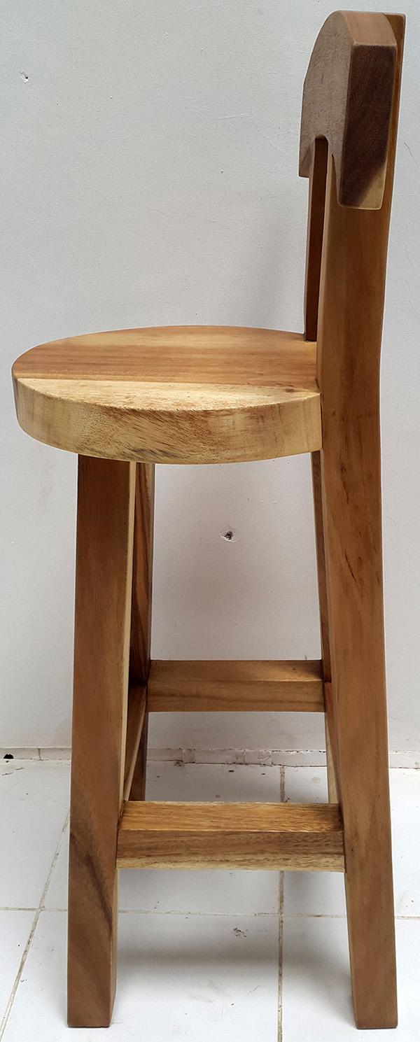 suar bar stool with natural color