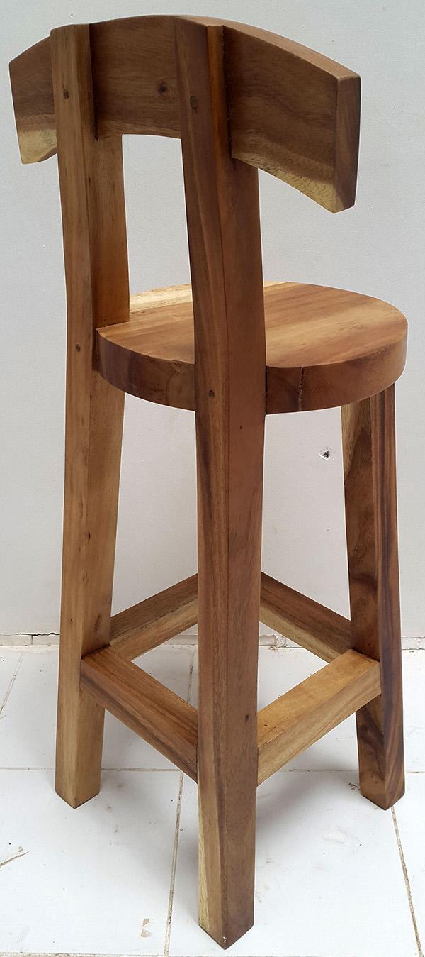 rain tree bar stool with natural color