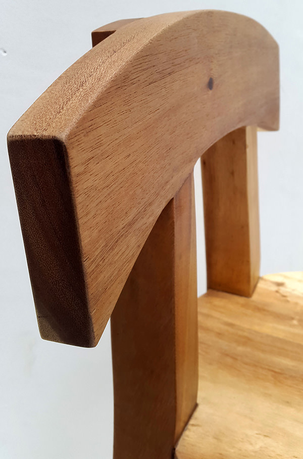 rain tree wooden bar stool with natural color