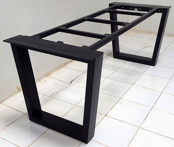 square metal legs for dining table
