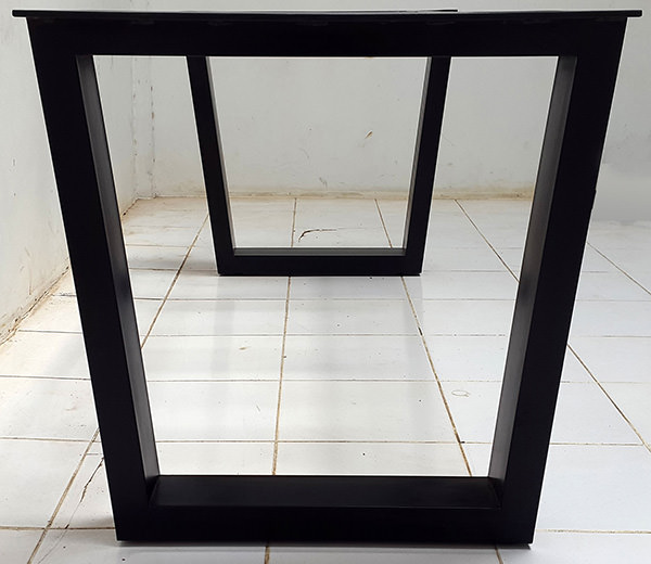 black square metal legs for dining table