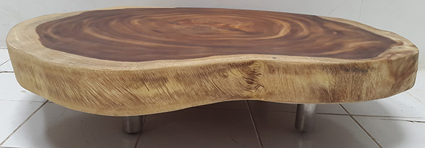 natural round coffee table