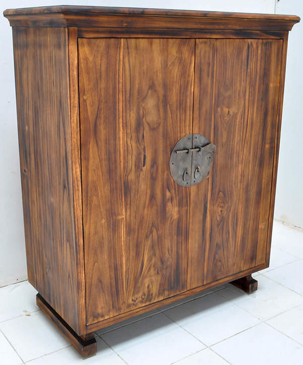 teak cabinet with a sugi ban finish